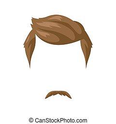 coiffure, barbe, moustache
