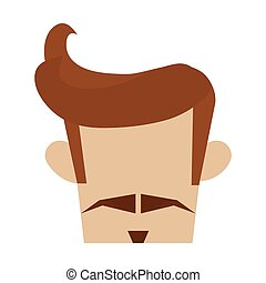 coiffure, hipster, moustache