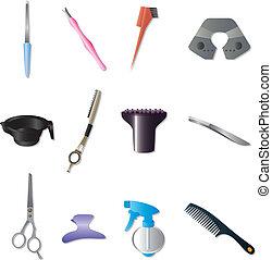 coiffure, kit