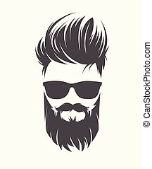 coiffure, mens, moustache, barbe