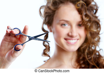 Coiffure - Pretty woman is going to do new coiffure
