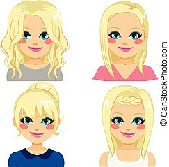 coiffures, blond