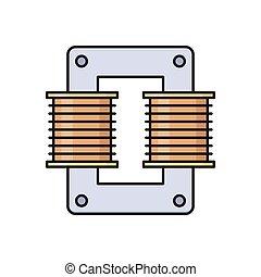 coil  flat color icon