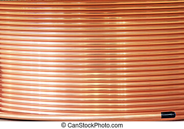 coil of copper pipe