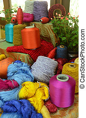 Coil of silk thread