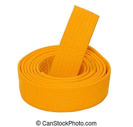 Coiled Karate Orange Belt - Coiled karate orange belt ...