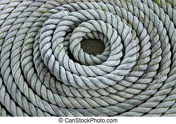 Coiled Rope - Heavy duty coiled rope.