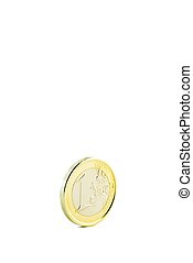 coin 1 euro isolated on white background