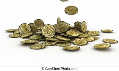 coin - animation, 3d