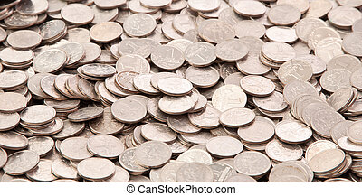 background of a penny coin Russia