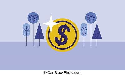 coin cash money dollar animation - coin cash money dollar ,...