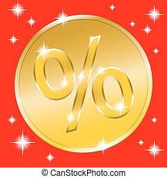 coin gold button