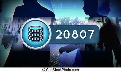 Coin icon and population