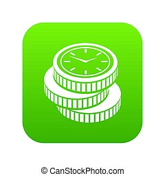 Coin icon green