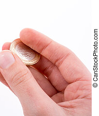coin in hand