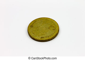 coin isolated on a white background