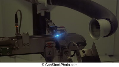 Coin laser engraving - Working equipment during the process...