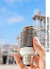 coin light bulb concept