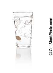 coin money dropped in to water - Water splashes when a coin ...