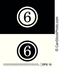 coin number, button number icon template