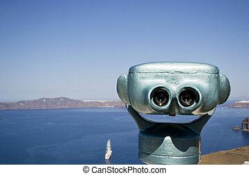 coin-operated binoculars