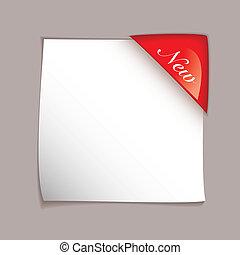 coin, papier, couverture, feuille