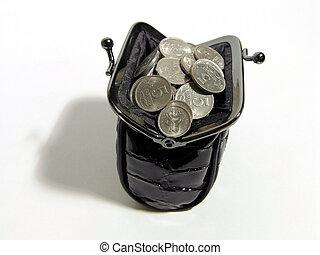 Coin Purse - A photo of black women coin purse full of coins