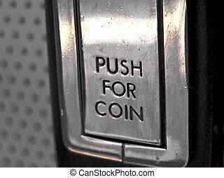 Coin Return - A coin return close up.