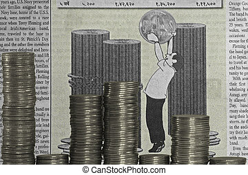 Coin Stack with bar graph