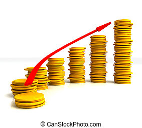 Coin Stacks Shows Increasing Profit - Coin Stacks Showing...
