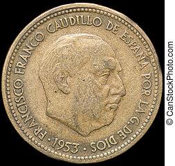 Coin - 2,5 Pesetas,spanish coin