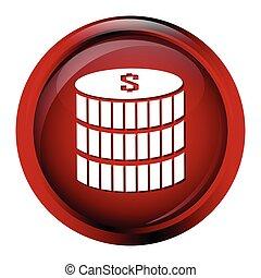 Coin symbol icon, money button