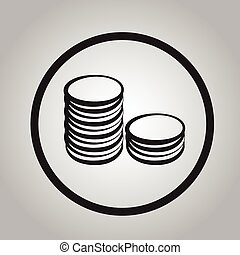 coin symbol icon sign illustration of money
