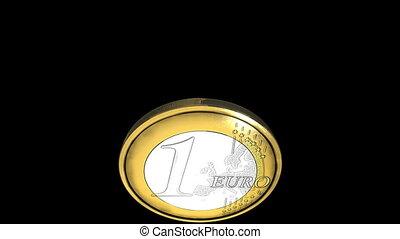 Coin thrown into air