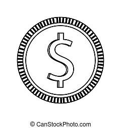coin , Vector illustration