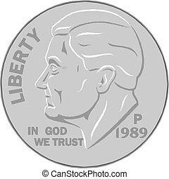 coin vector illustration