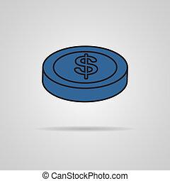 coin with a dollar sign vector