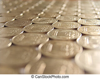 mosaic of coins (perspective)