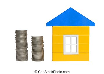 Coins and House