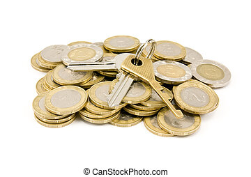 coins and house keys
