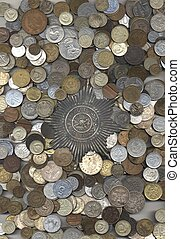 Coins and star