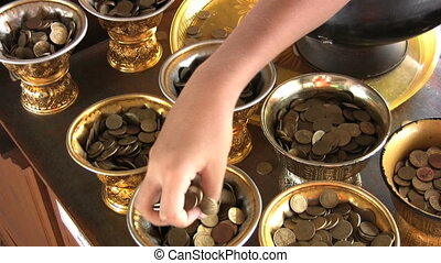 Coins At The Temple