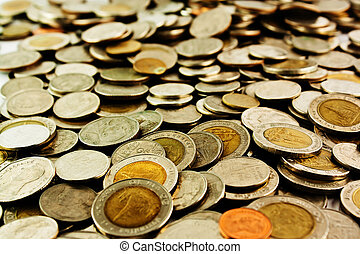 Coins background (Depth of field)