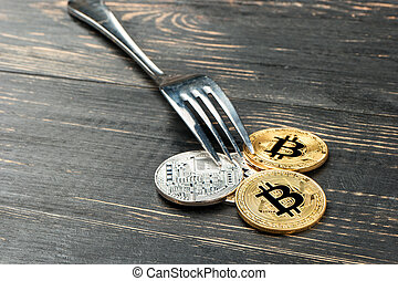 Coins bitcoin with fork