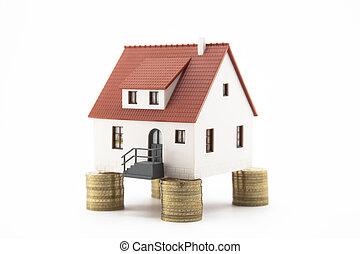 coins, casa, pilas