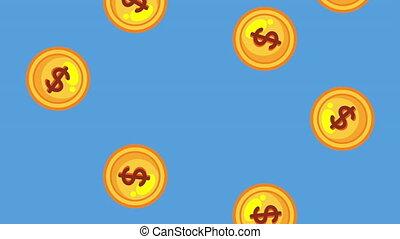 coins cash money dollars animation - coins cash money...