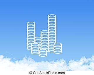 coins cloud shape