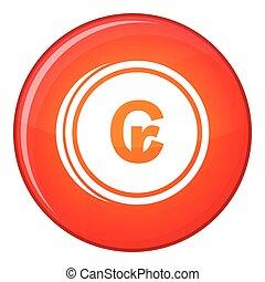Coins cruzeiro icon, flat style