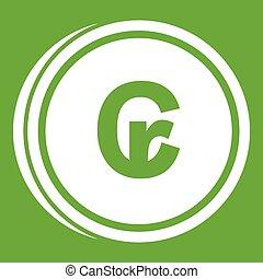 Coins cruzeiro icon green
