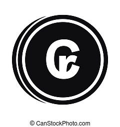 Coins cruzeiro icon, simple style